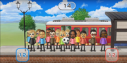Takashi, Alisha, Siobhan, Daisuke, Tommy, Hiromasa, Nelly, Holly, Silke, Alex, Steph, Shinnosuke, Akira, and Jackie featured in Commuter Count in Wii Party