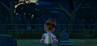 Miguel as a Zombie in Zombie Tag in Wii Party