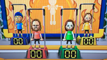 Ryan, Elisa and Kathrin participating in Chin-Up Champ in Wii Party