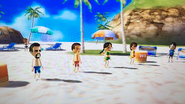 Victor, Shinta, Keiko and Susana participating in Flag Fracas in Wii Party