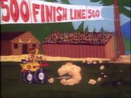 The Log Jammer 500 Finish