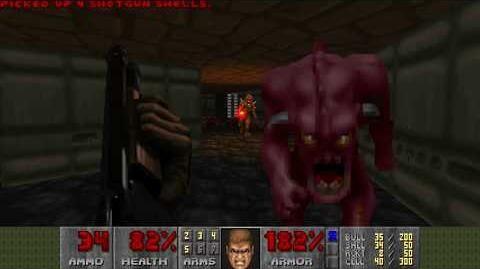 Doom (1993) - E2M6 Halls of the Damned 4K 60FPS