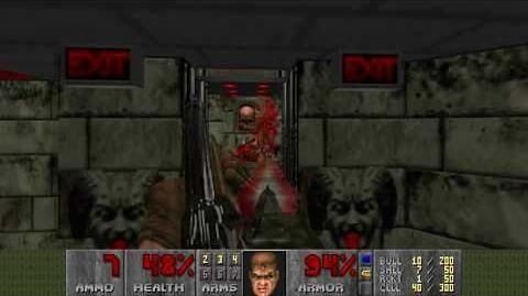 Doom (1993) - E2M4 Deimos Lab 4K 60FPS