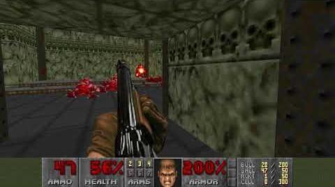 Doom (1993) - E2M3 Refinery 4K 60FPS