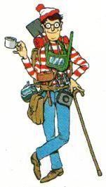 Waldo as he appears in the original Where's Waldo? (1987).