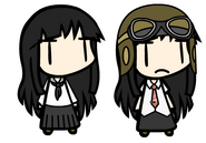 Normal Yukari (Left) and Otherworld Yukari (Right)
