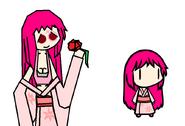 Pink Rose -Walfas Kimono-