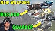NEW Weapons Tested NUCLEON & QUARKER - War Robots Test Server Gameplay WR-3