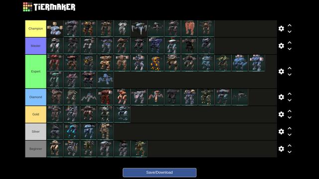 War Robots Tier List Of All Robots.png