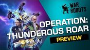 THUNDEROUS ROAR 🌀 War Robots Operation 6 Trailer (PHASE 2)