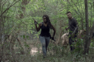 10x01 Michonne and Aaron
