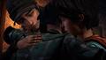 James Alex and Sam hug