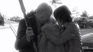TDWCWYWB Hershel and Maggie hugging Beth