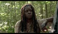 5x02 Michonne Wary