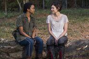 Sasha Williams and Maggie Rhee 7x16 Callback Scene