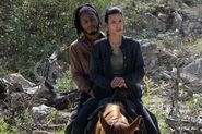 FTWD 6x09 Luciana and Wes