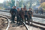 First group to arrive at the terminus
