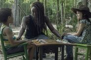 10x01 Michonne, Judith and RJ