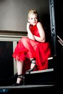 Emily very beautiful in red