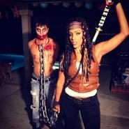 Halloween Michonne and Walker