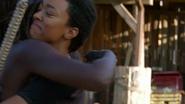 Sasha Hugs Michonne