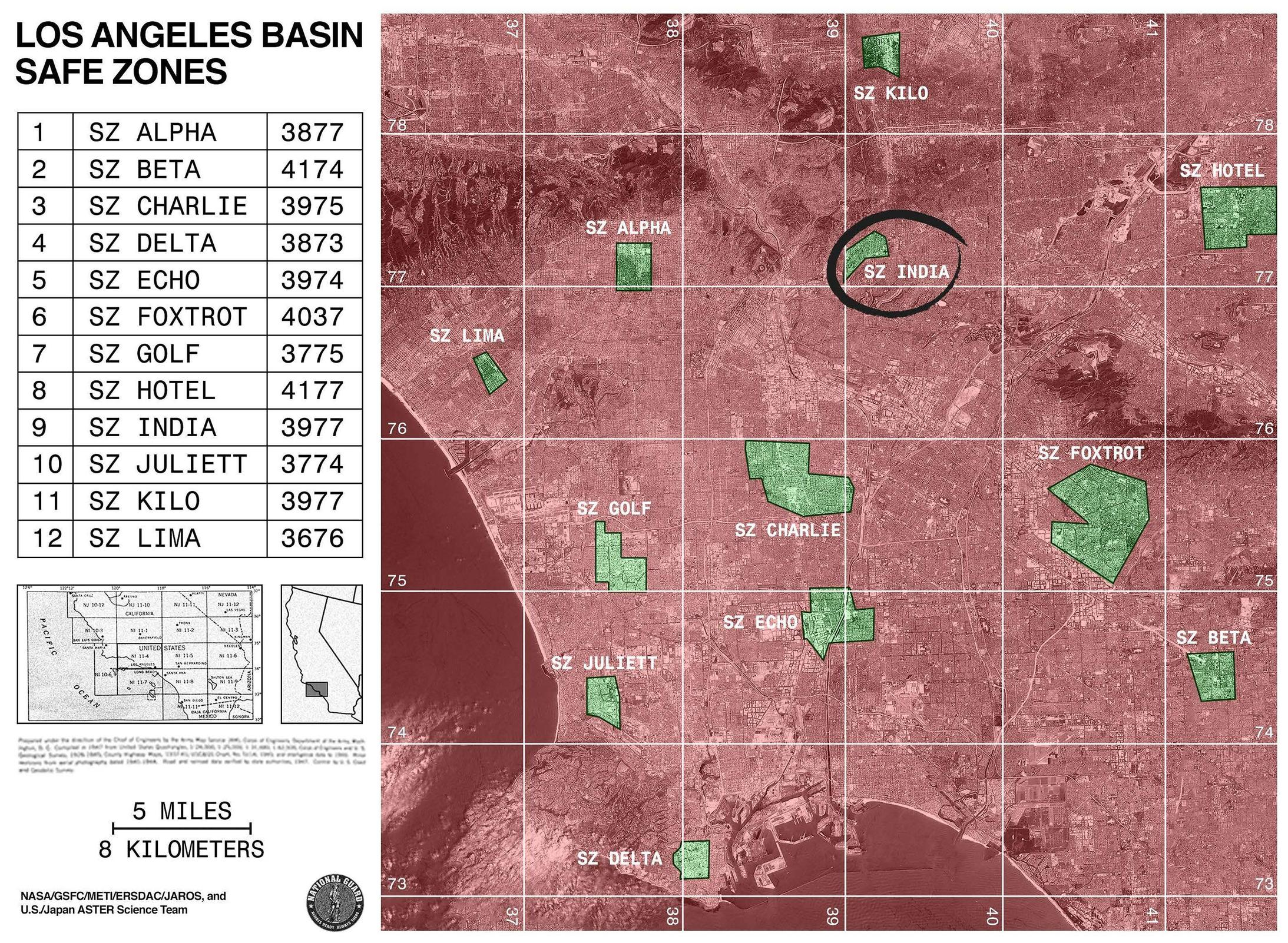 Los Angeles Basin Safe Zones