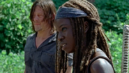 Michonne Speaks to Richard