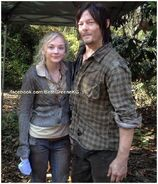 Beth and Daryl out there on the wilderness while getting dirty