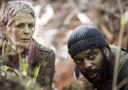 AMC NS Carol and Tyreese Forest