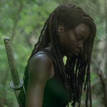 10x01 Michonne thinking.png