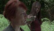 Michonne Confronts Woman