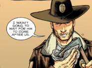 Issue 3 Deluxe - Rick wiping his axe