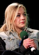 Emily with denim and leather jacket so hot