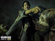 Season 5 Glenn killing walker