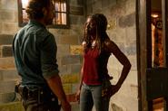 Michonne and Rick Speak 7x08