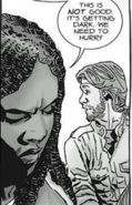Michonne and Aaron