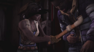 Michonne hurts jonas with pipe