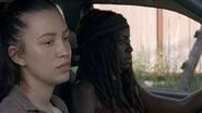 Rosita Michonne Car 8x06