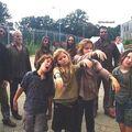 Season four kids on set