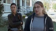 Twice-as-far-denise-tells-daryl-and-rosita-about-a-store-that-may-have-drugs