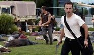 Daryl and Rick escaping the CDC