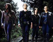 Michonne, Carol, Maggie and Tara Season 8