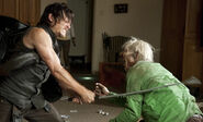 Daryl killing a walker in the country club!