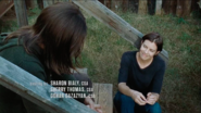 Maggie Rhee Smiling with Paul Rovia 7x14