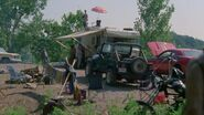 Vehicles in atlanta camp
