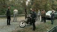 Hershel telling the group to stop panicking