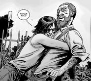 Rick and Carl Hug
