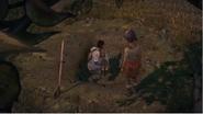 Javier puting maria on the ground