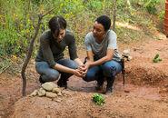 Maggie and sasha mourn