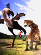 Saber-tooth vs Terror Bird